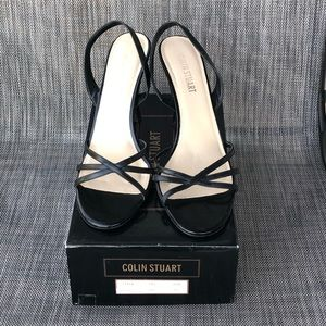 Strappy Black Heels Sandals by Colin Stuart 10